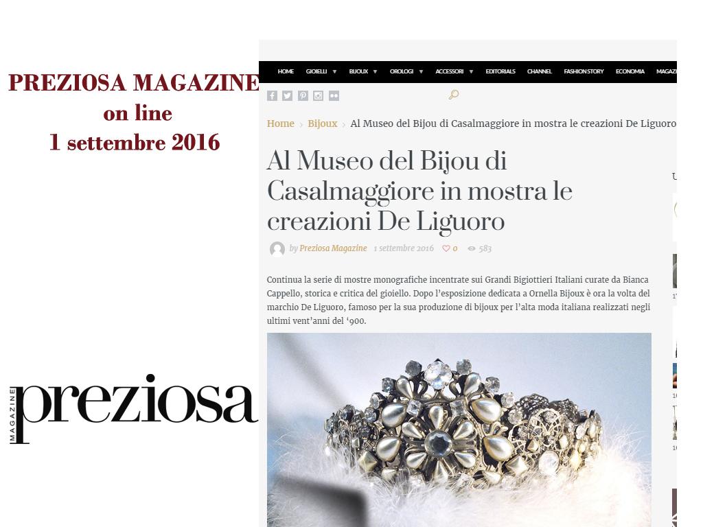 Preziosa Magazine Online 1 Settembre