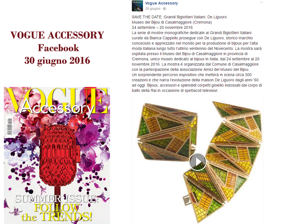 Vogue Accessory Giugno Facebook