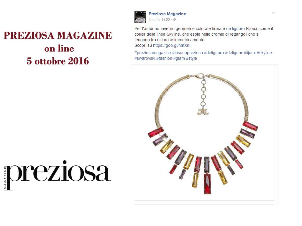 Preziosa Magazine Online 5 Ottobre