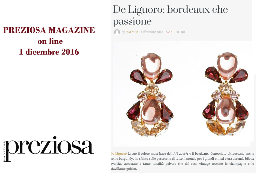 Preziosa Magazine December first
