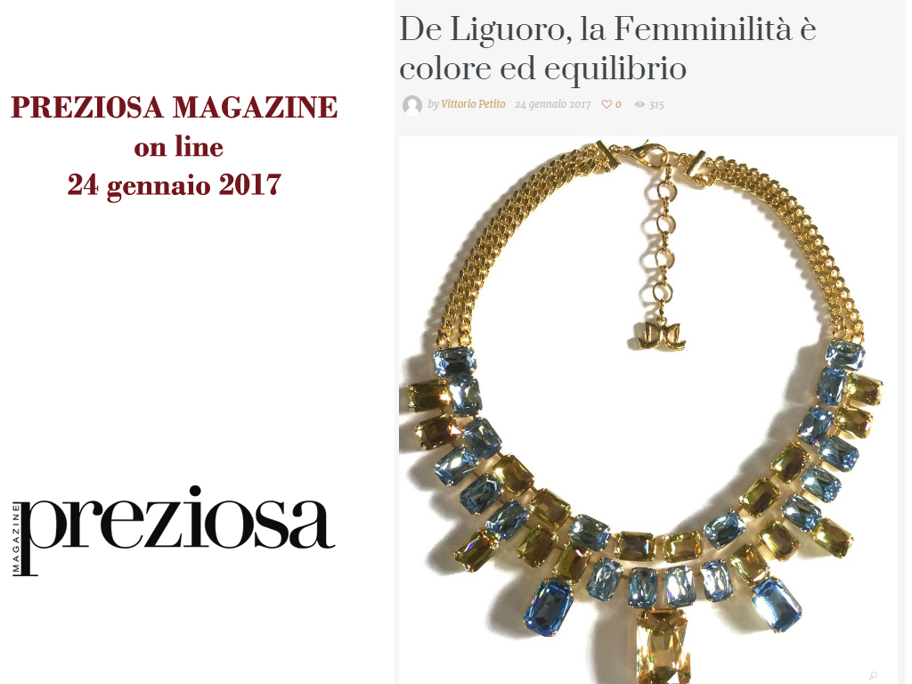 Preziosa Magazine January